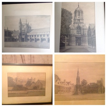 Pencil drawings of Oxford
