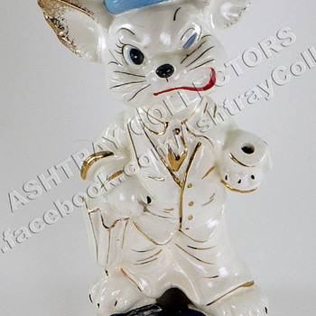 "8"" Cat Smoker Ashtray - Tobacciana"