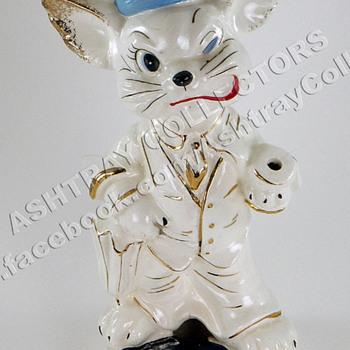 """8"""" Cat Smoker Ashtray - Tobacciana"""