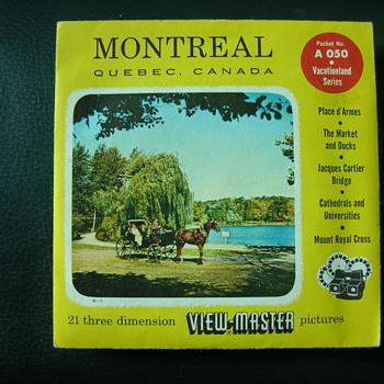 View-Master Yellow & Red Montreal A 050 Packet Rare???