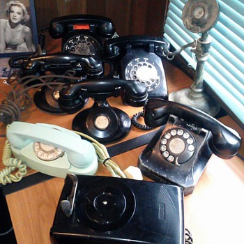 Some of My Antique phones. - Telephones