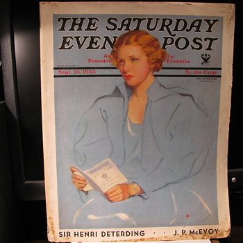 1933 Saturday Evening Post - Paper