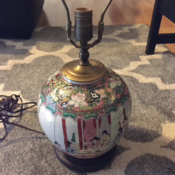 Asian Vintage Porcelain Lamp? Can someone help identify