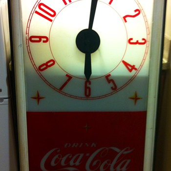 Tall Coca Cola Clock