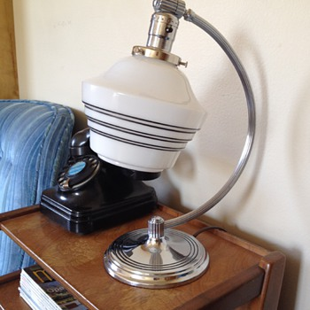 Chase Art Deco Machine Age Lamp