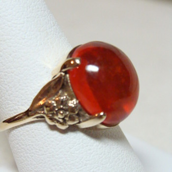 Antique Fire Opal Ring