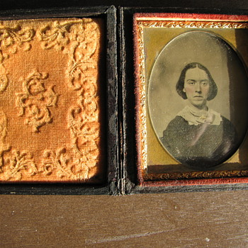 Civil War Photo Frame with Tin Type Photo - Photographs