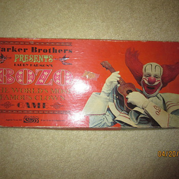 1967 Bozo The Clown Board Game