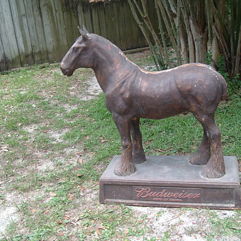 38&quot; tall budweiser clydesdale horse