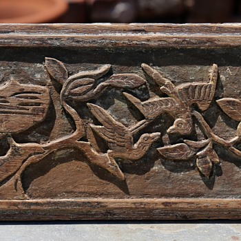 Carved Mahogany Panel - Asian