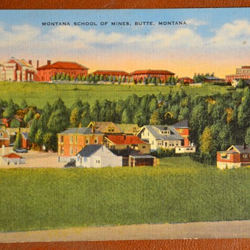 Montana School of the Mines and the first Masonic Building in Montana - Postcards