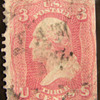 Pigeon Blood Pink US 3 Cents Stamp