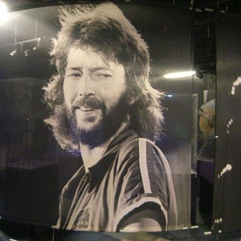 Eric Clapton silkscreen #2 - 11 feet wide x 9 feet tall  - Music
