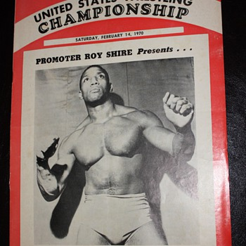 February 14, 1970 - Brochure for Wrestling at the Cow Palace