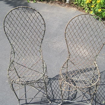 French Wire Chairs - Furniture