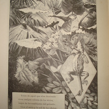 Second part of 1883 poem book: illustrations by Alexandre de Riquer