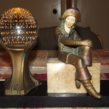 1925 J. B. Hirsch Lady Pirate Lamp, John Ruhl designer. - Art Deco