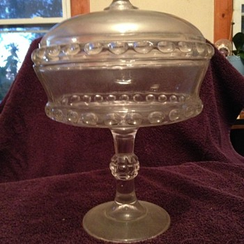 Unknown Clear Glass Candy Dish - Glassware