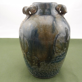 Tom Krueger Stoneware Jar Vessel