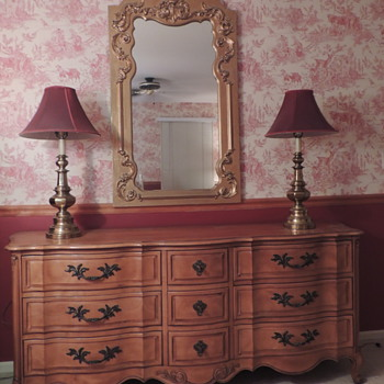 French Providential Bedroom Reproduction Set - Furniture