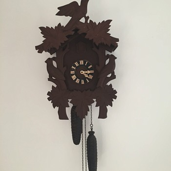 newly purchased antique cuckoo clock