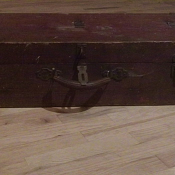 Old Wooden Military Tool Box  - Military and Wartime