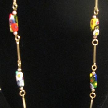 Millefiore necklace - Costume Jewelry