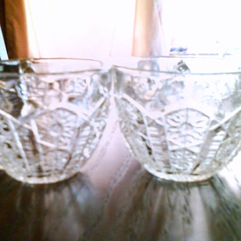 Cut Glass/Set of three?????? - Glassware