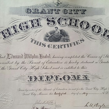 Diploma from 1909 Found Behind Picture