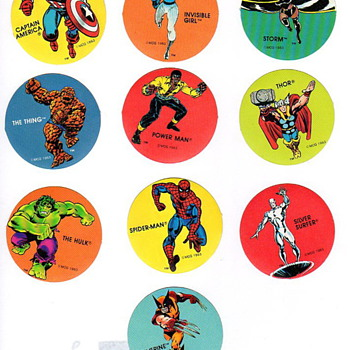Marvel Super Hero&#039;s Sticker Set PDQ