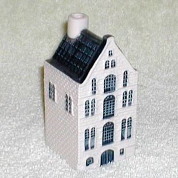Delft KLM Airlines Bols Genever House Bottle - Advertising