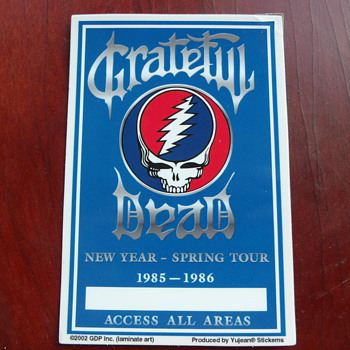 Grateful Dead random memorabilia from my collection - Music