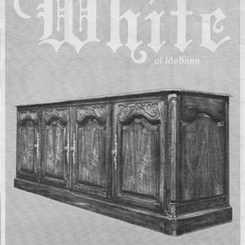 1968 - White Furniture Advertisement