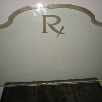 Apothecary Rx embossed window - Advertising
