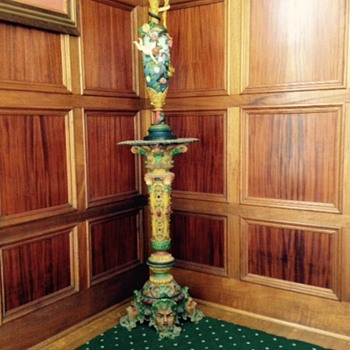 ornate vase and base - Victorian Era