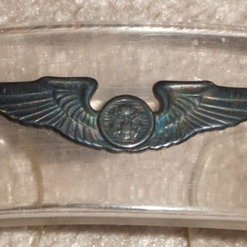 WW2 Army Air Corps wing trench art bracelet - Military and Wartime