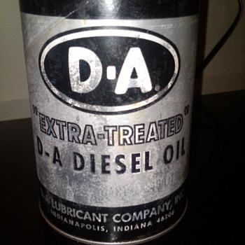 "D-A ""Extra Treated"" Diesel oil can - Petroliana"