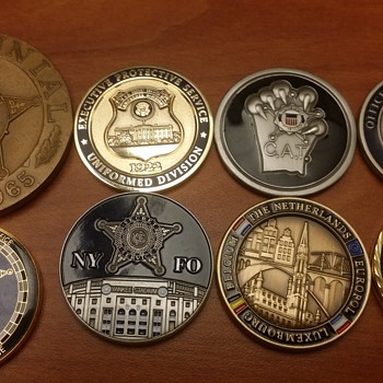 A few of my favorite USSS challenge coins.