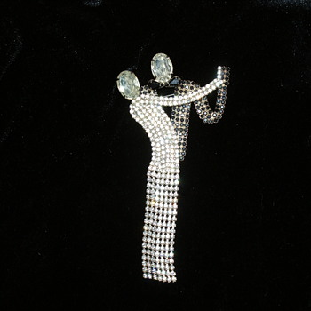 Rhinestone Brooch – Possibly Butler and Wilson - Costume Jewelry