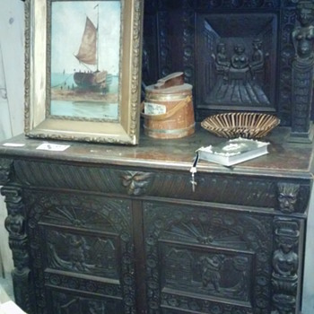 Help Identifying Unique Carved Hutch Cabinet (Beautiful!)