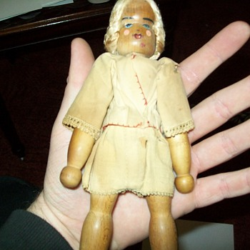 1950 wooden doll - Dolls