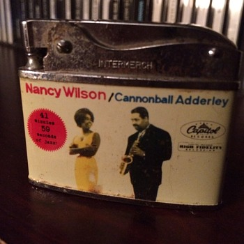Nancy Wilson/Cannonball Adderley Capitol promo lighter - Tobacciana
