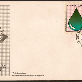 "1988 - ""Energy Conservation"" First Day Cover - Brazil - Stamps"