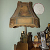 Beethoven at Piano Lamp with Original Shade Signed John Ruhl and J B Hirsch 1932