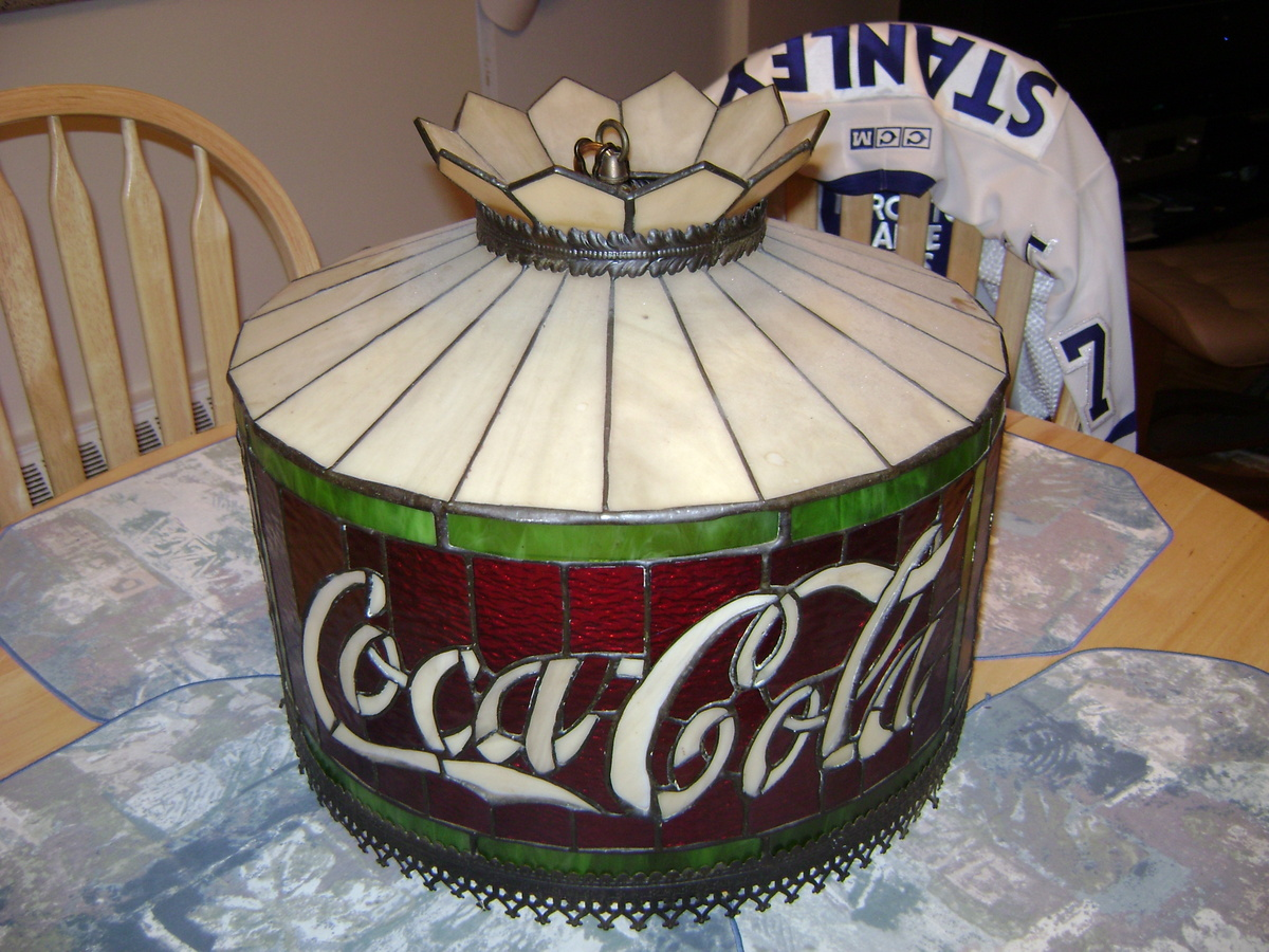 Coca Cola Hanging Lamp Shade Collectors Weekly