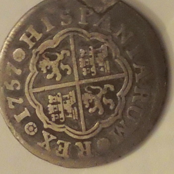 Rare Spanish Coin 1757