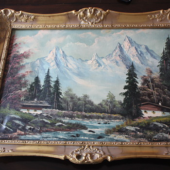BEAUTIFUL VINTAGE OIL PAINTING - Visual Art