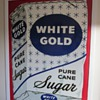 White Gold Pure Sugar Cane Porcelain Sign 1930's