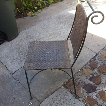 what are these metal chairs in my yard
