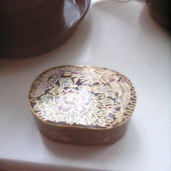 My cloisonne trinket box